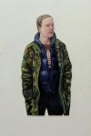 Johannes, 2014, Acryl, Öl auf Holz, 120 x 54 cm
