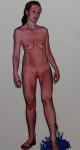 Blitsch, 2013, Acryl, Lack auf Holz, 176 x 81 cm