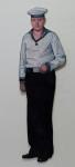 Matrose Till, 2012, Acryl und Lack auf Holz, 182x73cm