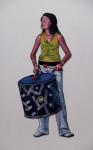 ДAШA, 2011, Acryl, Lack auf Holz, 170x103cm