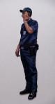 Böser Polizist, 2013, Acryl, Lack auf Holz, 176x61cm