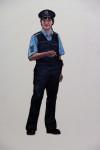 Gute Polizistin, 2013, Acryl, Lack auf Holz, 169x62cm