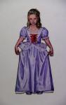 Prinzessin, 2013, Acryl, Lack auf Holz, 150x59cm