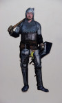 Knight Martin, 2013, Acryl, Lack auf Holz, 182x76cm