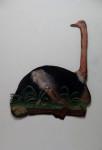 Vogel Strauß, 2005, Acryl auf Holz, 142x100cm