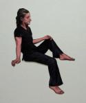 Susanna, 2013, Acryl, Lack auf Holz, 109x103cm
