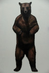 Die große Bärin, 2013, Acryl auf Holz, 210 x 83cm