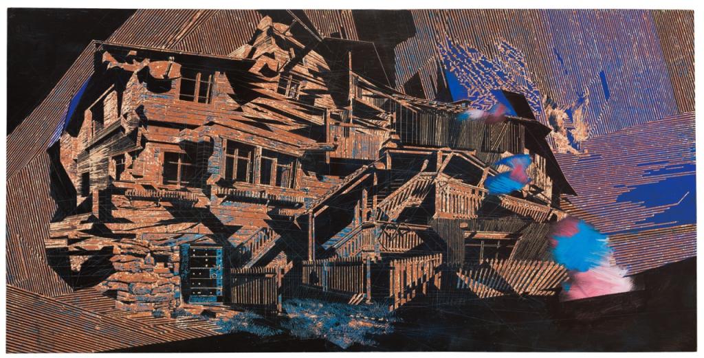 Frank Lippold, 2017, Holzschnitt, 244 x 122 cm